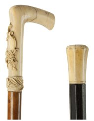 Lot 48B: Two Ivory Top Canes
