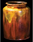 Lot 9: New England Glazed Redware Jar