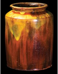 Lot 9: New England Glazed Redware Jar