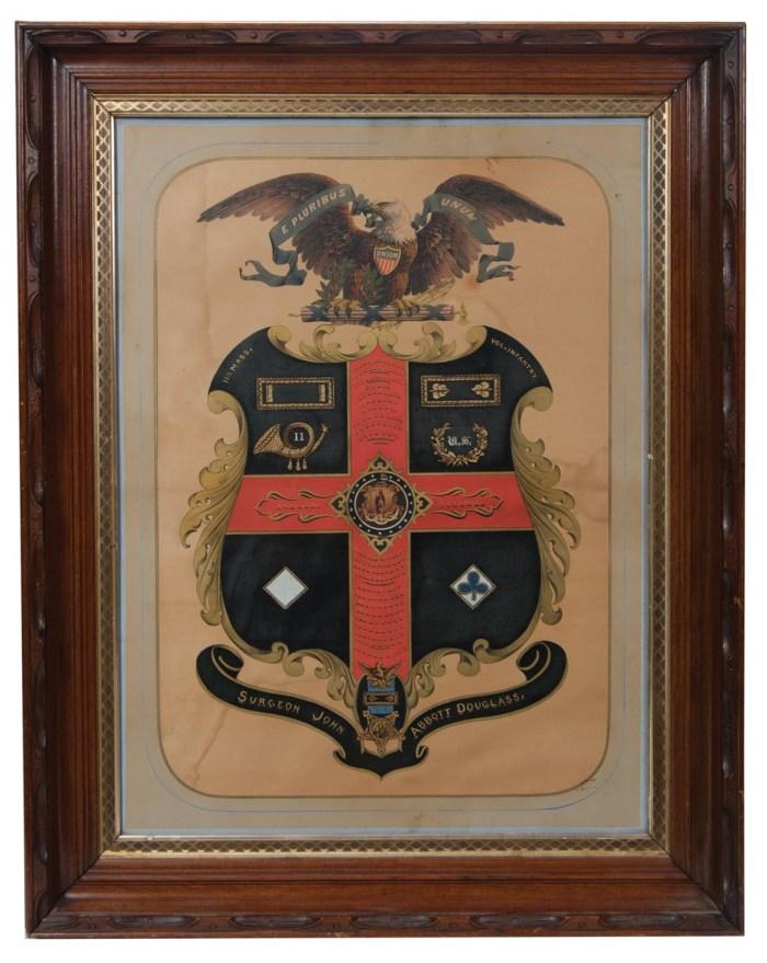 Lot 116: Framed Civil War Commemorative Document