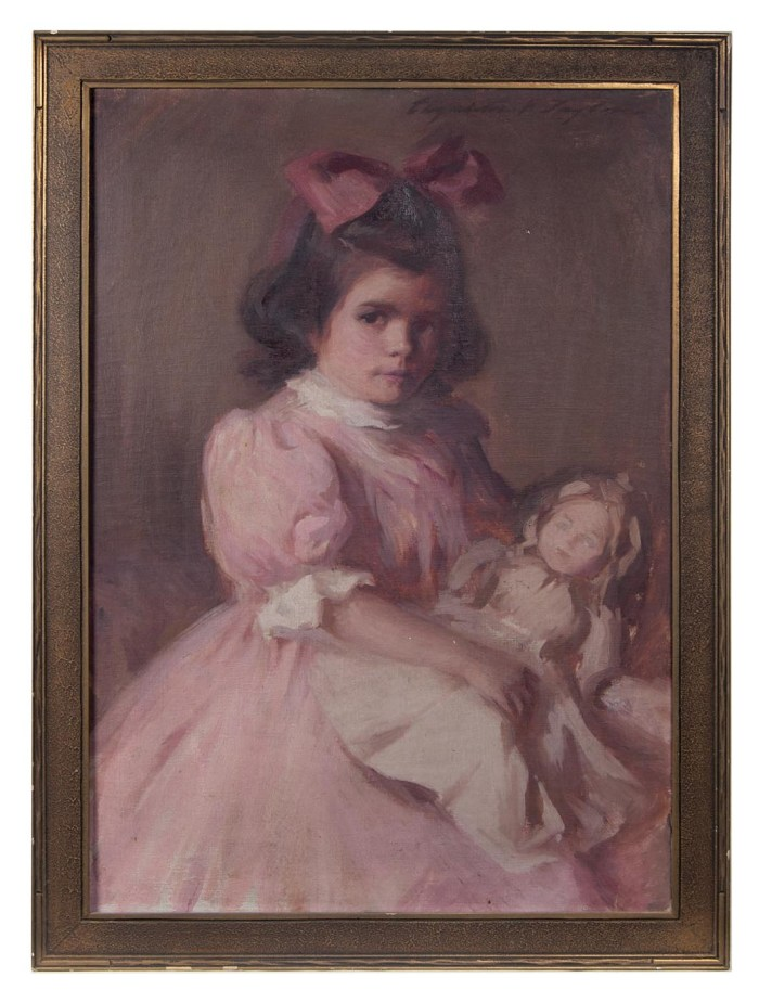 Lot 131: Portrait of Young Girl with Doll