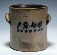 Lot 13: 19th c. Stoneware Crock