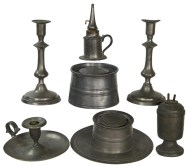 Lot 161: Collection of 19th c. Pewter
