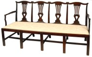 Lot 165: Chippendale Bench