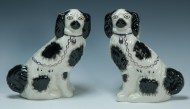 Lot 171: Pair of Staffordshire Spaniels