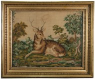 Lot 176: 19th c. Needlework Pictures