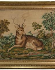 Lot 176: 19th c. Needlework Pictures