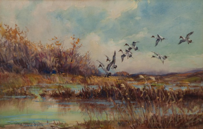 Lot 17: Watercolor By Frank V. Smith