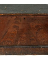 Lot 180: Early New England 19th c. Storage Chest