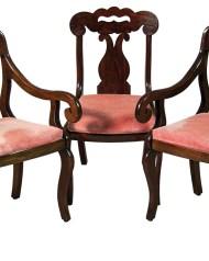 Lot 205: Set of Three 19th c. Mahogany Chairs