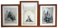 Lot 206: Three 19th c. Framed Indian Prints