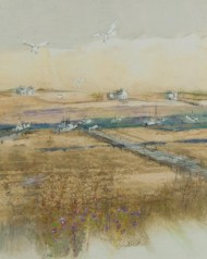 Lot 217: Large Watercolor of North River
