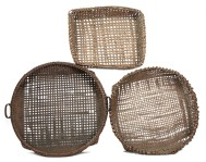 Lot 24: 19th c. Winnowing Baskets