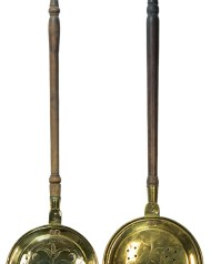 Lot 254: Two 18th/19th c. Bedwarmers