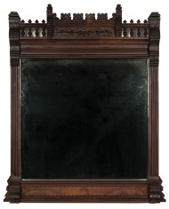 Lot 257: Victorian Over the Mantle Looking Glass