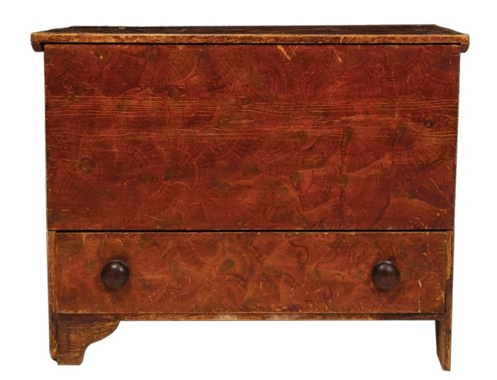 Lot 25: 19th c. Blanket Chest