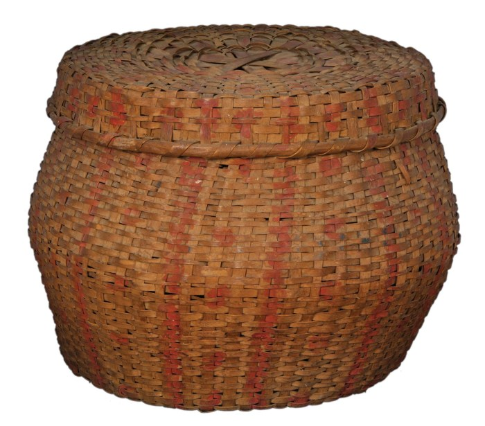 Lot 36: 19th c. Baskets