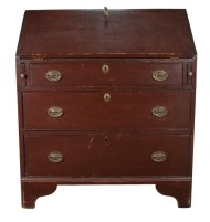 Lot 40: Early 19th c. Slant Lid Desk