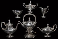 Lot 41: Sterling Silver Tea Set