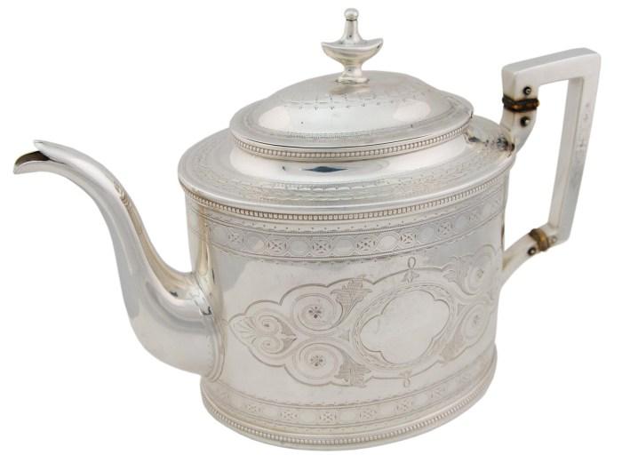 Lot 43A: Sterling Silver Teapot