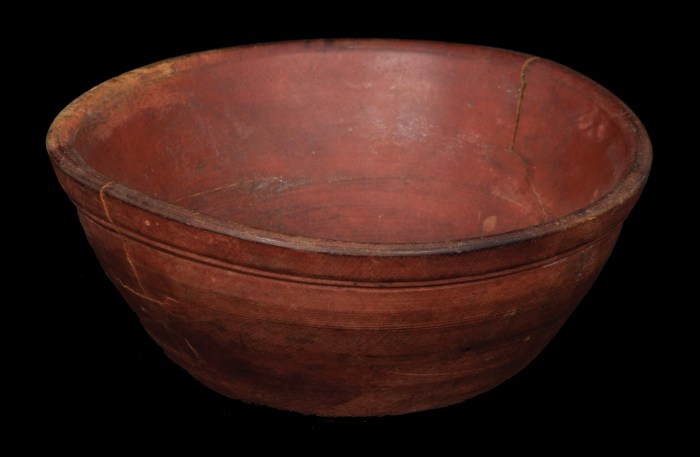 Lot 52A: Early New England Treenware Bowl