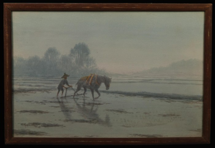 Lot 58C: Japanese Watercolor on Paper