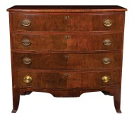 Lot 65: 19th c. Hepplewhite Bowfront Chest