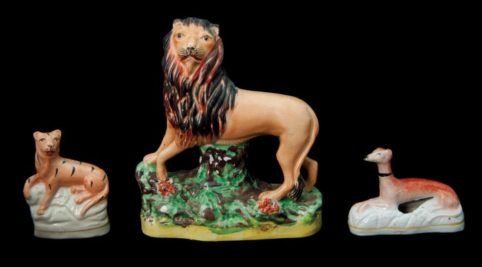 Lot 69: Staffordshire Animals