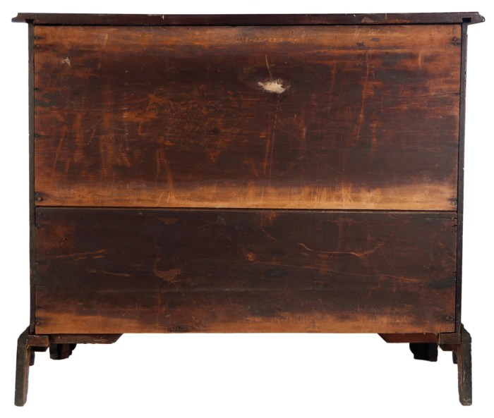 Lot 70: 18th c. Boston Block Front Chest