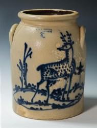 Lot 8: 19th c. Stoneware Crock