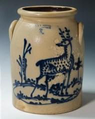 Lot 8: 19th c. Stoneware Crock