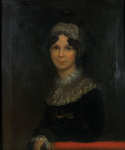 Lot 98: 19th C. Oil on Canvas Portrait Attributed to John Jarvis
