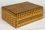 Lot 99: Late 19th C. Marquetry Inlaid Jewelry Box