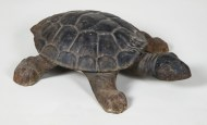 turtle, spittoon, cast, metal