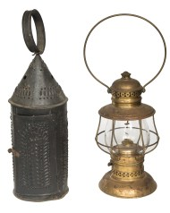 tin, brass, lanterns