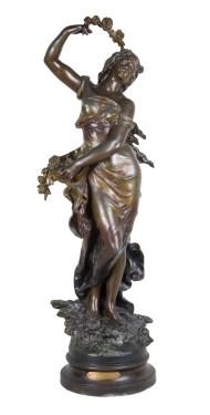 victorian, bronze, statue