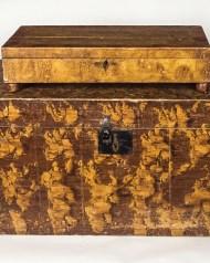 lidded, boxes, pine, grain