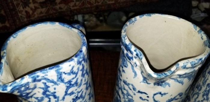 pitchers, spongeware