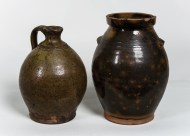 redware, jugs, ovoid, crock