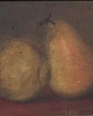 academy, board, still, life, pears