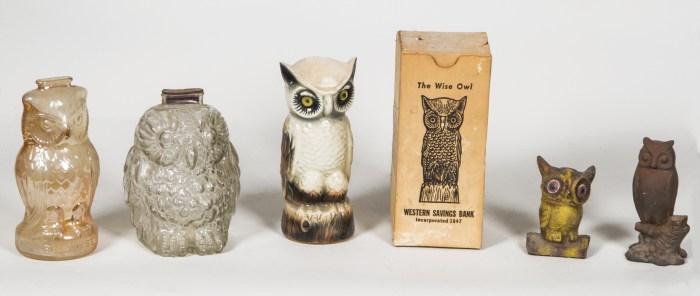 vintage, owl, banks