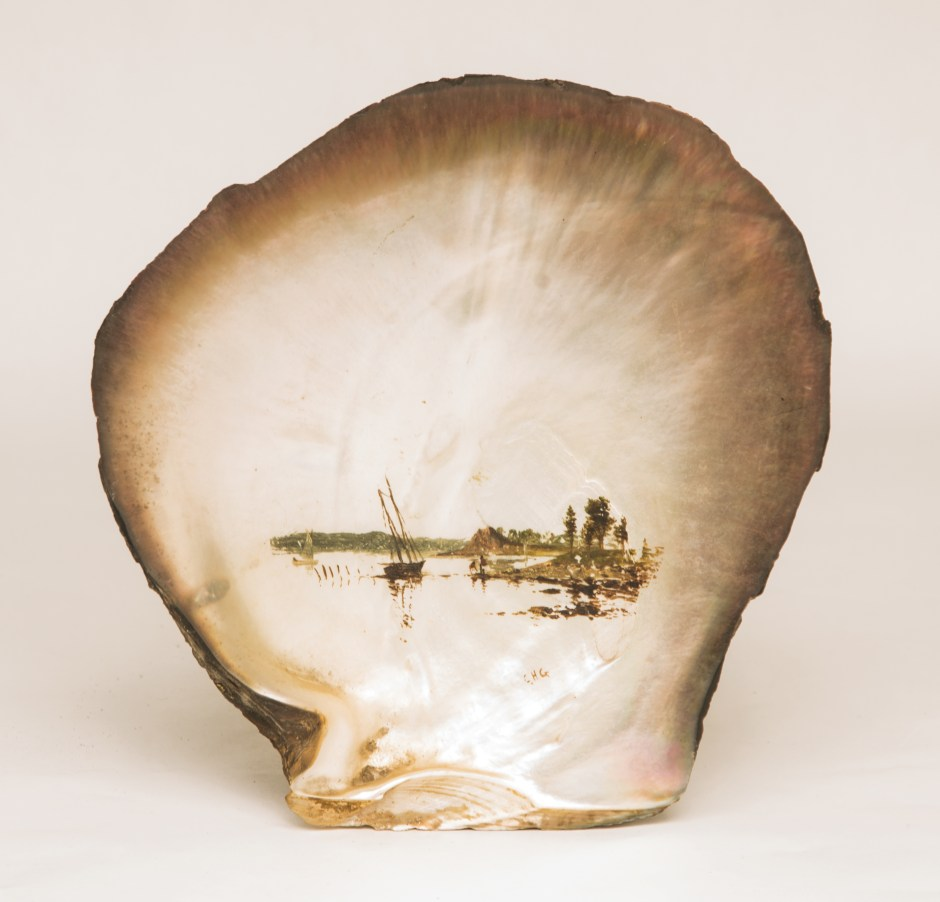 CH Gifford, oil, painting, shell