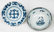 delft, ceramic, blue, chinese, bowls
