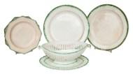 leedsware, ceramic, plates