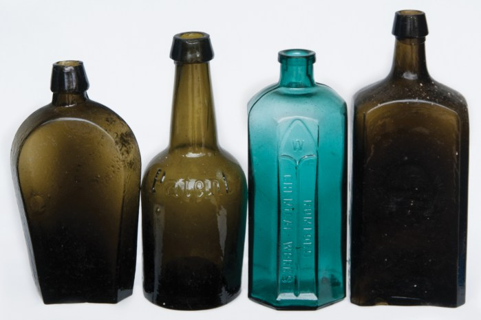 glass, bottles