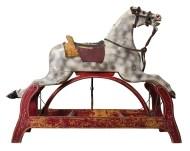 rocking, horse, carved, wood