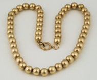 14k, gold, bead, necklace