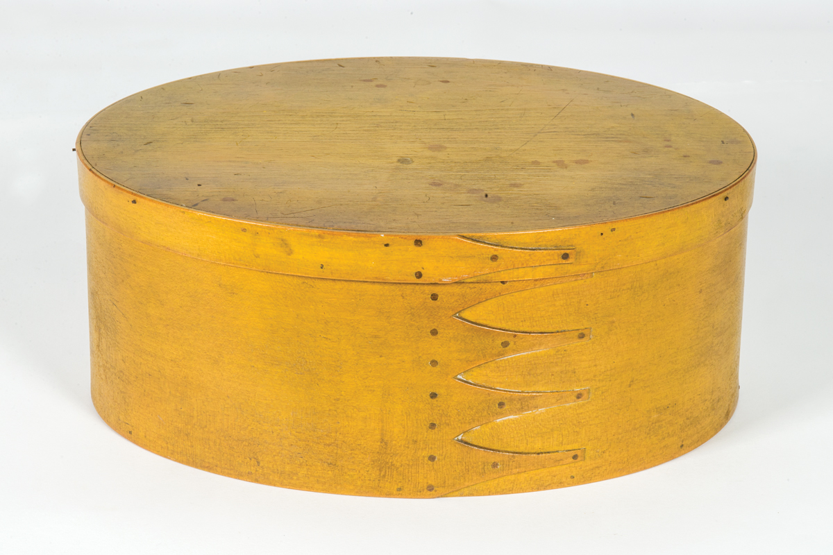 Five Finger Yellow Oval Box