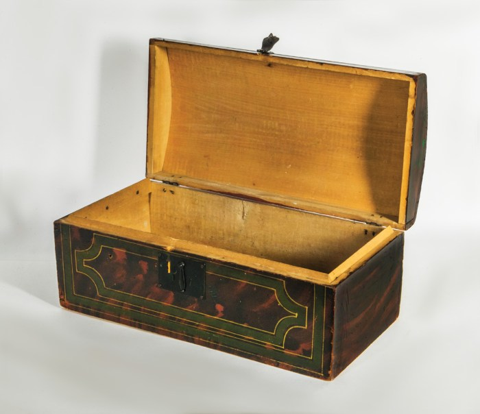 19th C. Dome Top Storage Box