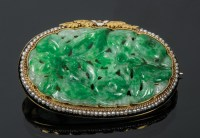 Gold Pin with Jadite